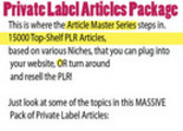 Thumbnail 1500 plr NICHE plr articles