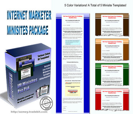 Product picture IInternet marketer Minisites package