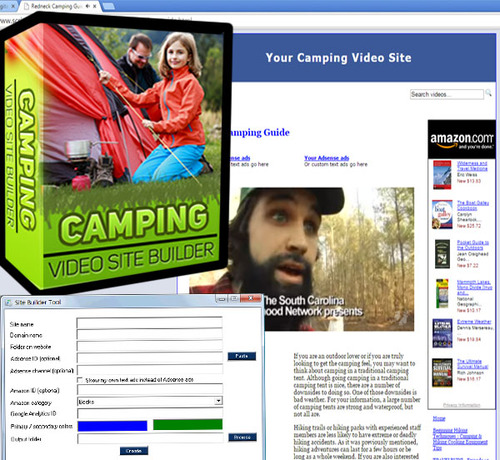Product picture Camping Video Site Builder